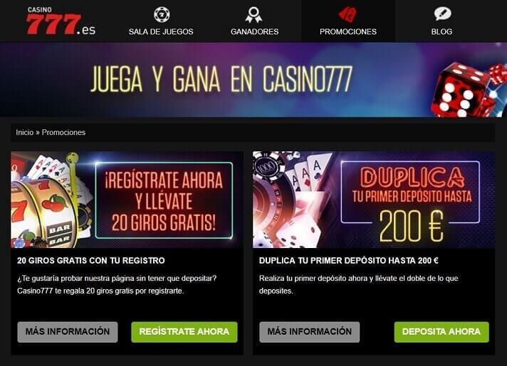 casino777 promociones juegos