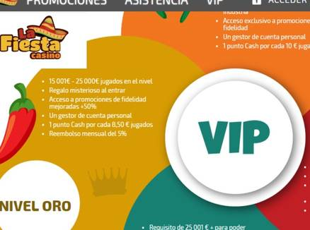 La Fiesta Casino VIP Bonos