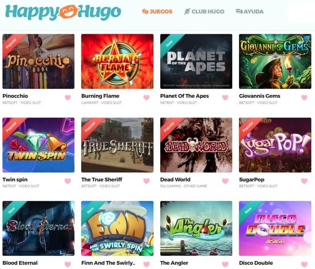 happy hugo juegos