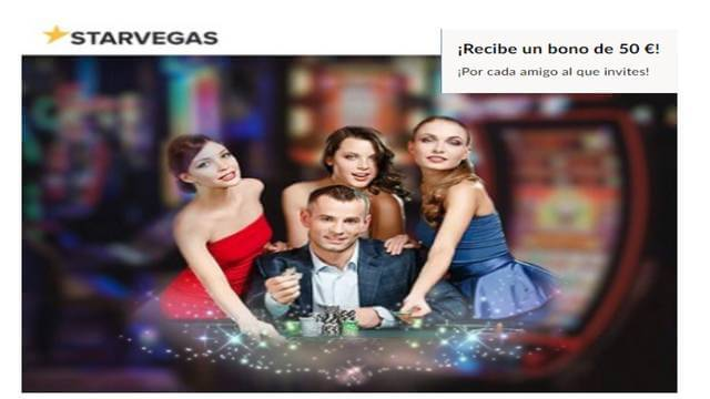 Bono hasta por 50 euros en Casino Starvegas por traer a un amigo