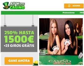 En Allwins casino gane hasta 1500 euros por primer depósito