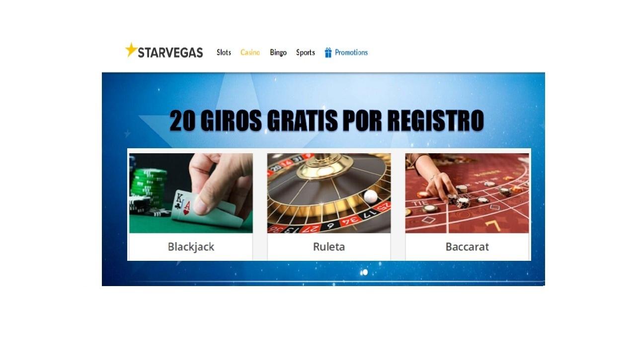 Casino Starvegas entrega 20 giros gratis