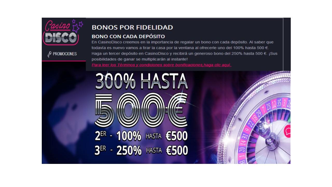 Bono de fidelidad Casino Disco