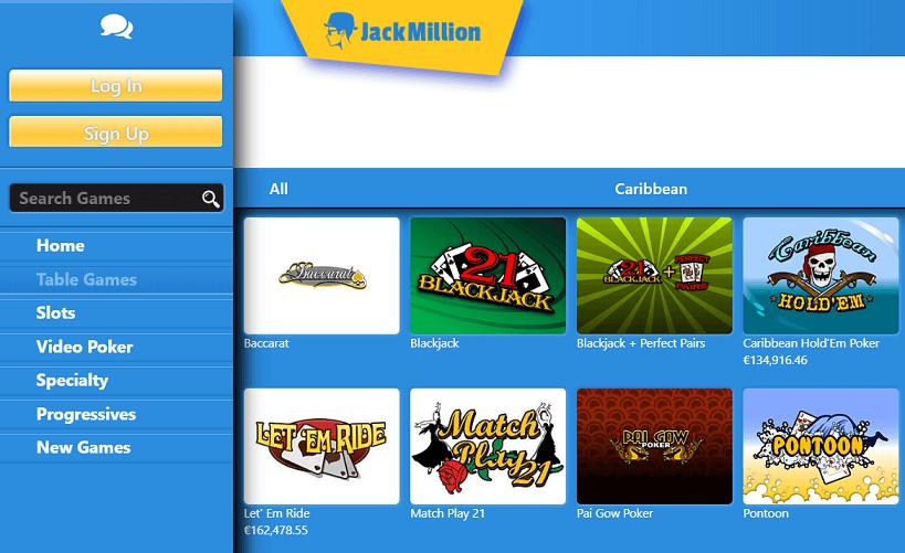 jackmillion juegos
